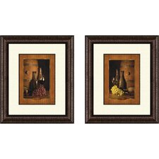<strong>Pro Tour Memorabilia</strong> Kitchen Vineyard Tour Framed Art (Set of 2)