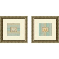 <strong>Pro Tour Memorabilia</strong> Coastal Scallop Framed Art (Set of 2)