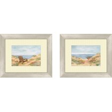 Coastal By the Sea Framed Art (Set of 2)
