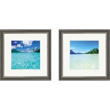 Coastal Open Waters 2 Piece Framed Photographic Print Set