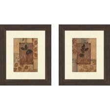 Botanical Fall Foliage Framed Art (Set of 2)