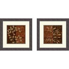 Botanical Autumn 2 Piece Framed Painting Print Set