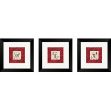 Bath Vintage Sink Framed Art (Set of 3)