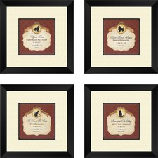Inspirational Upper Paw Framed Art (Set of 4)