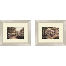 <strong>Pro Tour Memorabilia</strong> Landscape Plentitude De Charme Framed Art (Set of 2)