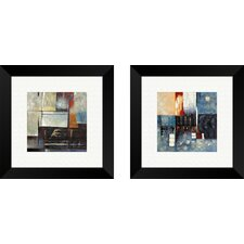 Contemporary Atlantis Revisited 2 Piece Framed Painting Print Set
