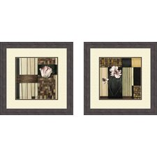 Contemporary Blossoms 2 Piece Framed Painting Print Set