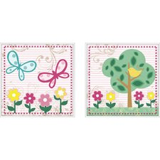 Juvenile Flower Framed Art (Set of 2)