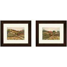 Tuscany B 2 Piece Framed Painting Print Set
