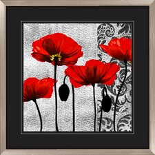 Ornate Poppie 2 Piece Graphic Art Shadow Box Set