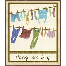 Laundry Time Framed Graphic Art (Set of 2)