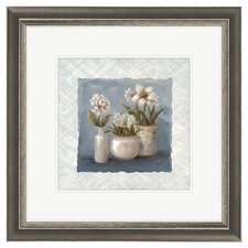 Floral Blue and White Collection Framed Art (Set of 2)