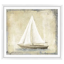 Map Boats Graphic Art Shadow Box