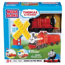 Mega Bloks Thomas 3-in-1 Buildable-James on the Move