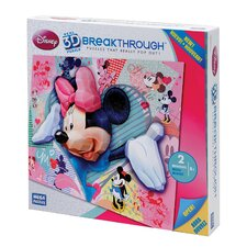 200 Piece 3D Breakthrough Minnie Mouse Puzzle