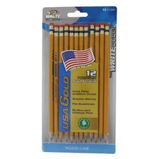 <strong>Mega Brands</strong> USA Gold Premium Cedar No. 2 Pre Sharpened Pencil (12 Count)
