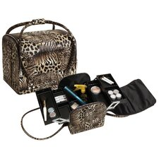 Tiger Leopard Roll Top Makeup Case