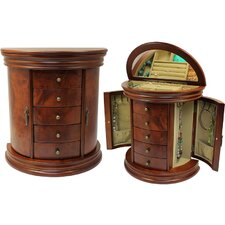 Round Queen Anne Jewelry Box