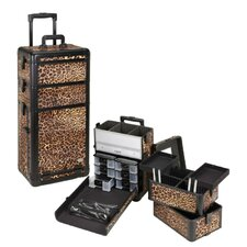 Professional 3-1 Rolling Cosmetic Makeup Case