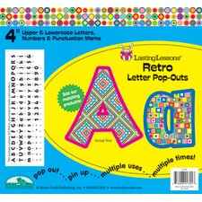 Retro Letter Pop-outs