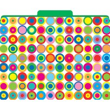 <strong>Barker Creek & Lasting Lessons</strong> Functional File Folders Disco Dots, 12-Pack