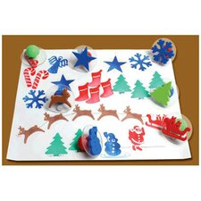 Giant Christmas Stamps (Set of 10)