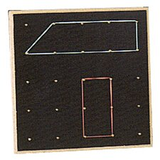 <strong>Center Enterprises Inc</strong> Geoboard 10x10 Square (Set of 15)