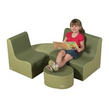 4 Piece Kids Tot Contour Seating Set