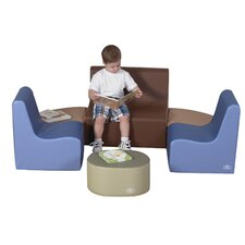 6 Piece Kids Tot Reading Center Seating Set