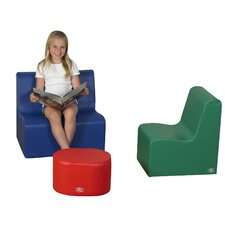 <strong>The Children's Factory</strong> 3 Piece Kids School Age Everyday Seating Set