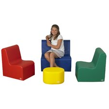 4 Piece Kids School Age Social Center Seating Set