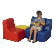 <strong>The Children's Factory</strong> 3 Piece Kids School Age Study Area Seating Set