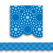 Lots Of Dots Blue Shaped Borders