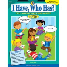 I Have Who Has Math Gr K