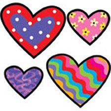 Hearts Poppin Patterns Stickers