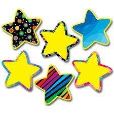 Poppin Pattern Stars Jumbo Cut Outs