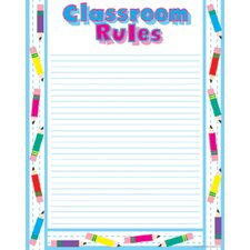 Chart Classroom Rules 17 X 21