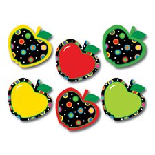 Dots on Black Apples PP Jumbo Cut