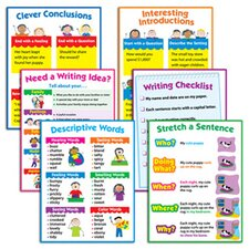 <strong>Creative Teaching Press</strong> Writing 6-chart Pack Gr 1-3