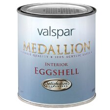 1 Quart White Medallion Interior 100% Acrylic Paint Eggshell