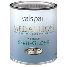 1 Quart White Medallion 100% Acrylic Interior Paint Semi Gloss