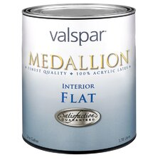 1 Quart Clear Base Medallion Interior 100% Acrylic Flat Wall Paint