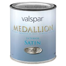 1 Quart White Base Medallion 100% Acrylic VOC Interior Paint Satin