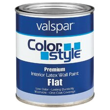 White ColorStyle® Interior Latex Flat Wall Paint