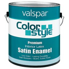 1 Gallon White ColorStyle® Interior Latex Satin Enamel Wall Paint
