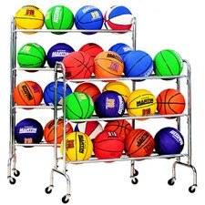 4 Tier Portable Ball Rack Holds