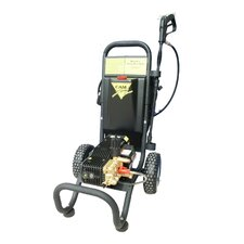1450 PSI Cold Water Electric Tube Cart Pressure Washer with Electric Cut-Out Thermal Relief