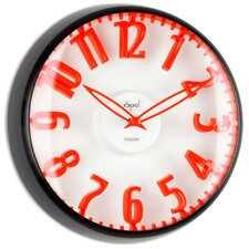 """12.8"""" Raised Figures Dome Glass Wall Clock"""