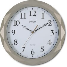 Caliber Diamond Cut Case Wall Clock