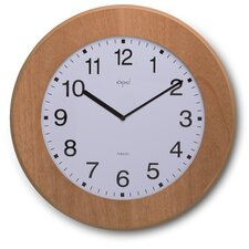 Opal Slim Wooden Clock in Natural Brown